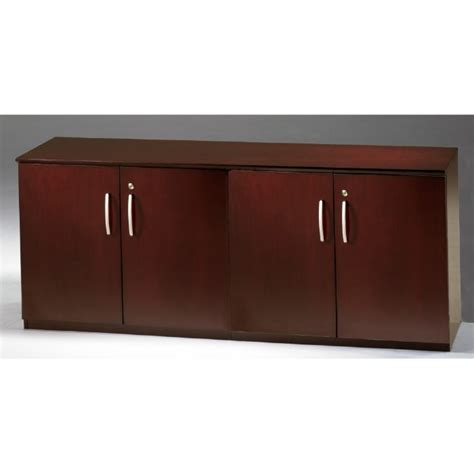 napoli low wall cabinet with doors all wood doors