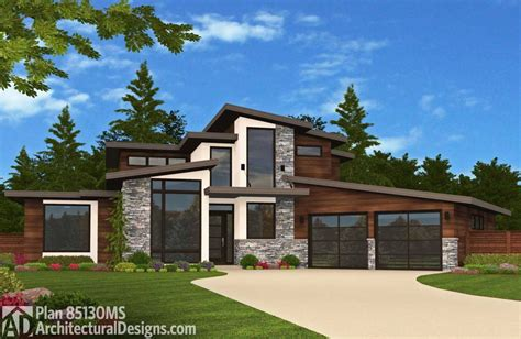 modern home blueprints northwest modern house plans