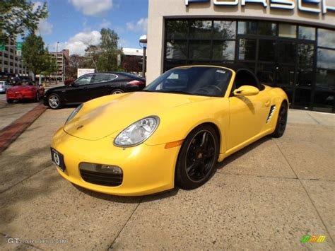 yellow porsche boxster speed yellow 2005 porsche boxster standard boxster model