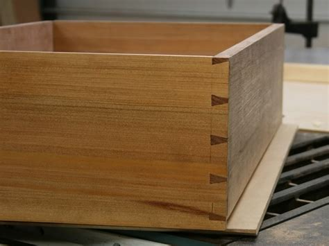 and the fronthalf blind dovetails they are spaced to