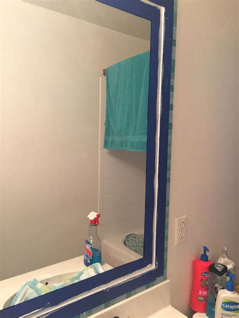 bathroom mirror decorating ideas planahomedesign tiled bathroom mirror frame no grout hometalk