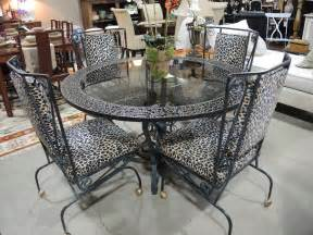 rectangle glass top table with white wrought iron legs