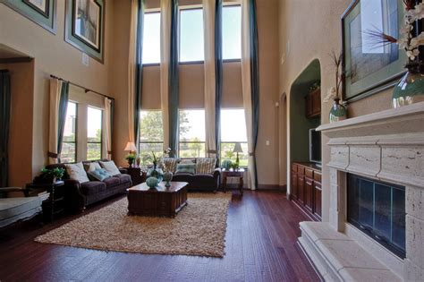Newmark Homes Family Room Mayfield Traditional Family Room houston by Newmark Homes