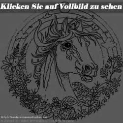 pferde 9 mandalas zum ausdrucken