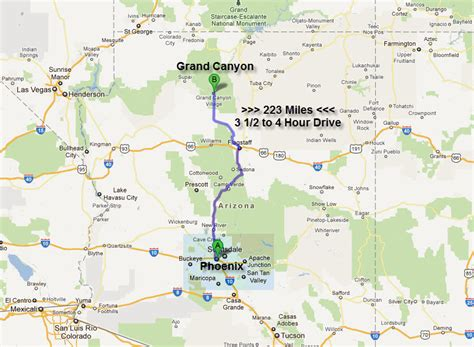 grand map arizona arizona map to grand