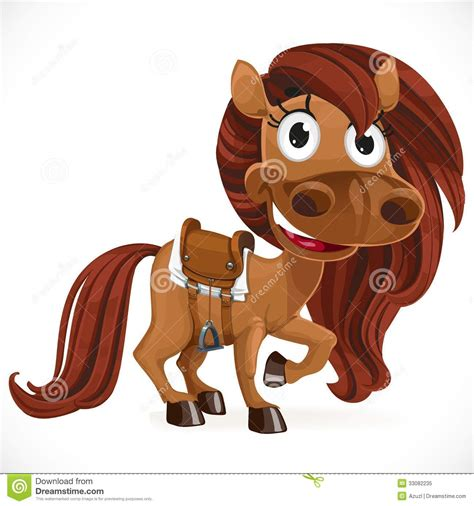 cute cartoon baby pony cute cartoon baby horse royalty free stock photo image