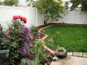 flower beds with rocks images