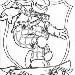 Muppets Fozzie Bear Coloring Pages Coloring Pages Fozzie Coloring Pages