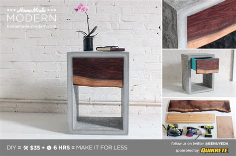 homemade modern homemade modern ep56 concrete walnut nightstand