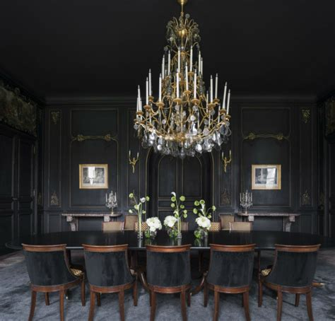 black dining rooms how to decorate dramatic dining rooms with smart dining chairs