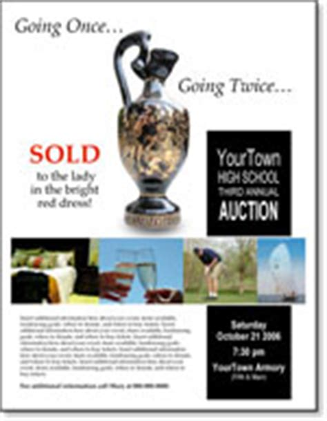 auction brochure template fundraiser flyer templates