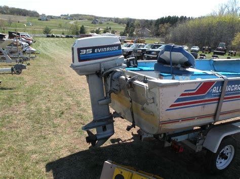 1983 alumacraft lunker 14ss 14 ft boat w 35 hp evinrude