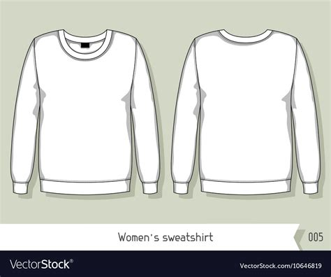 Sweatshirt Template Women Sweatshirt Template For Design Easily Vector 10646819 Templates Data Sweater Design Template