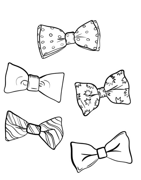free coloring pages of bow ties august 28 national bow tie day