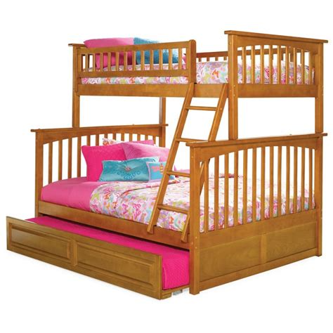 columbia twin  full bunk bed  trundle dcg stores