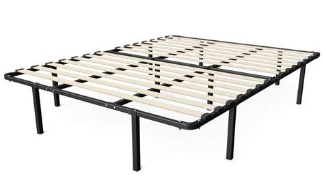 Greenhome123 Full Size Metal Platform Bed Frame With Wood Bed Frames No Box