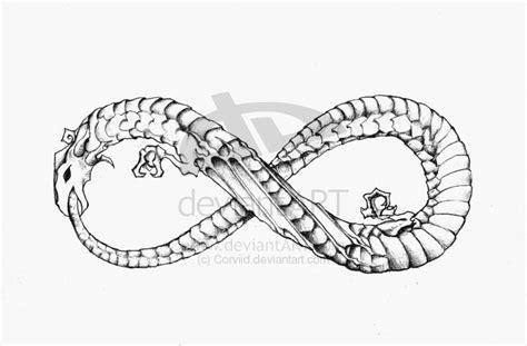 tattoo infinity dragon dragon infinity ouroboros tattoo design by corviid