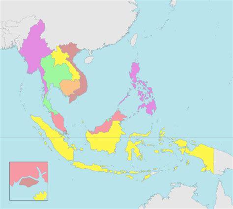 asean map blank asean