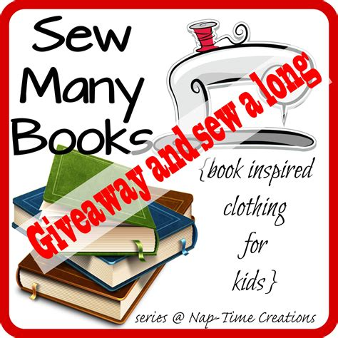 Book Giveaways - sew many books giveaway and sew a long closed nap time creations