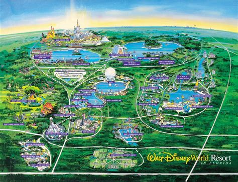 map of usa showing disney world map of disney world resorts disney resort map orlando