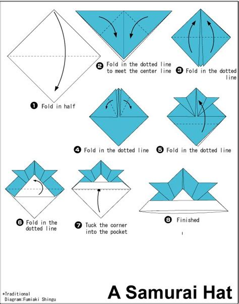 Origami Pdf Free - 25 best ideas about origami hat on origami