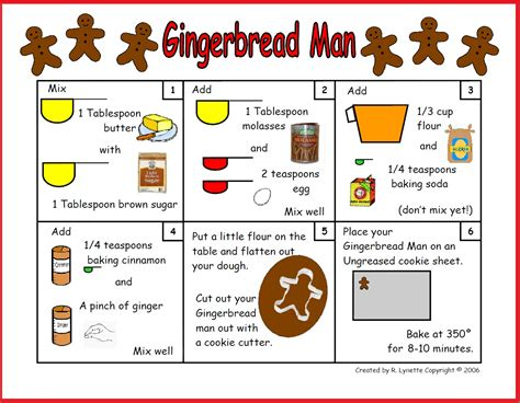 printable picture recipes gingerbread man recipe in pictures minds in bloom
