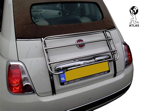 fiat 500 luggage luggage rack fiat 500c convertible carrier 2009 2018