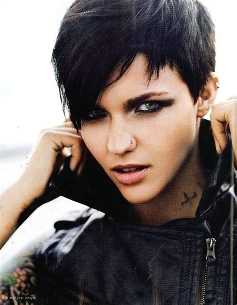 Edgy Dark Hairstyles | edgy pixie haircuts straight hair popular haircuts