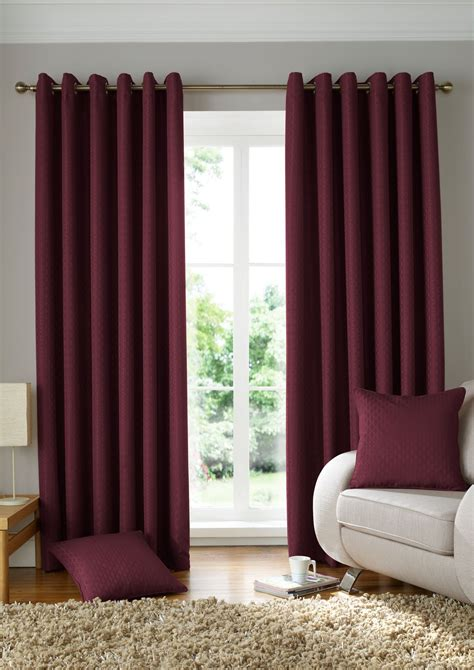 red lined curtains woven jacquard squares wine red lined ring top curtains