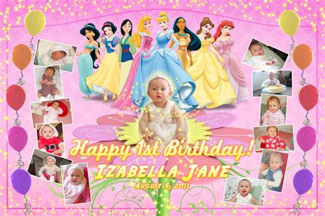 layout design for 1st birthday invitation tarp izabella jane 1st birthday filipino