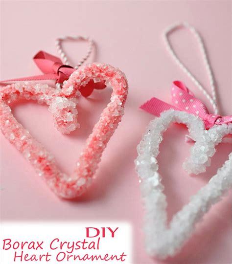 Vegan Home Decor by Diy Borax Crystal Heart Ornament Easy Valentine Kid
