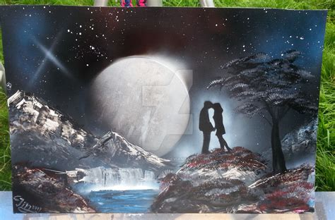 spray paint moon the moon spray paint by craftmamanl on