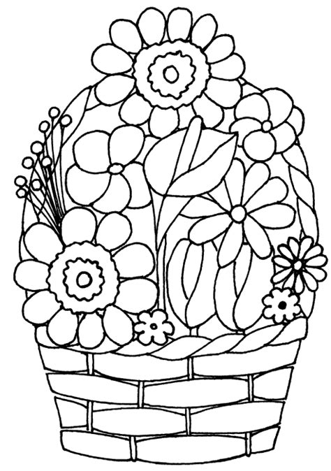 coloring pages of flowers in baskets index of colouringpages xmasimages