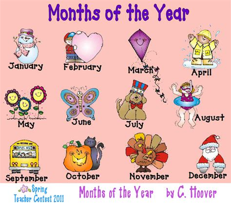 printable months poster tiny english blog months of the year poster