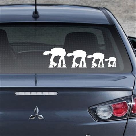 Auto Sticker Star Wars by Star Wars At At Family Auto Decals