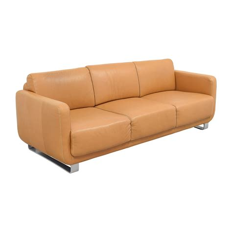 schilling sofa 74 off w schillig w schillig light brown leather sofa