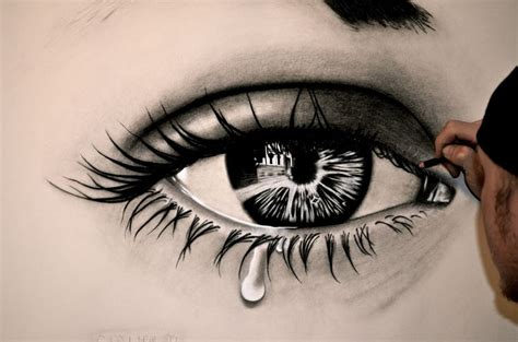 the crying eye hyper realistic drawings stay calm and draw pinterest