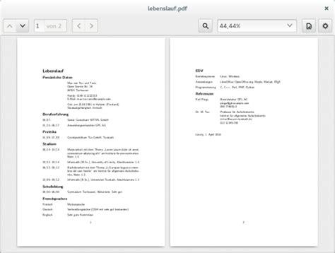 Muss Lebenslauf Chronologisch Sein Bewerbung Mit Hilfe Vorlagen Unter Ubuntu Oder
