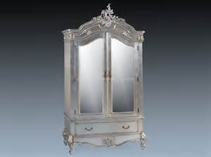 louis mirrored armoire