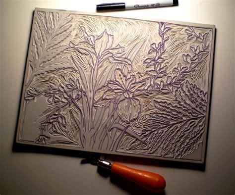 design art printers monday methods linoleum plates center for book arts