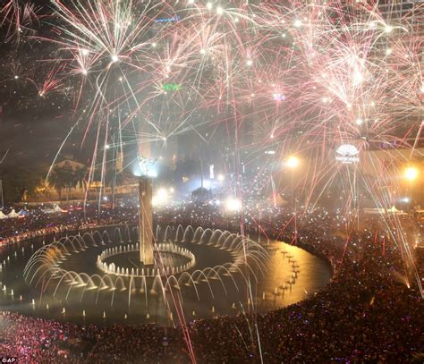 new year in jakarta 360 degree image of s stunning firework