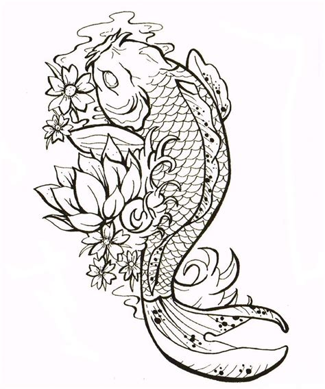 tattoo outline designs free 39 best koi fish outlines images on koi