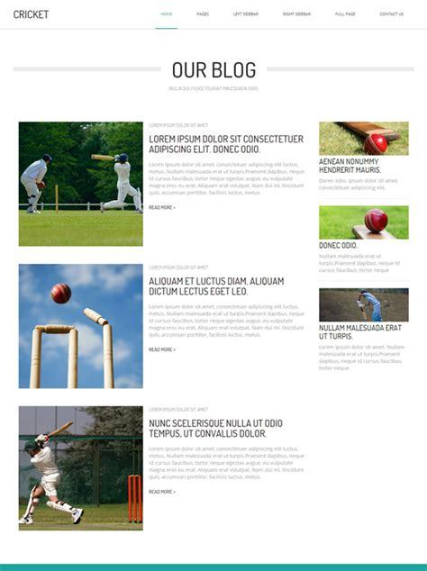 cricket templates for blogger cricket html template cricket website templates