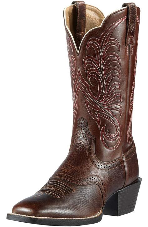 ariat womens square toe mesquite cowboy boots fiddle brown