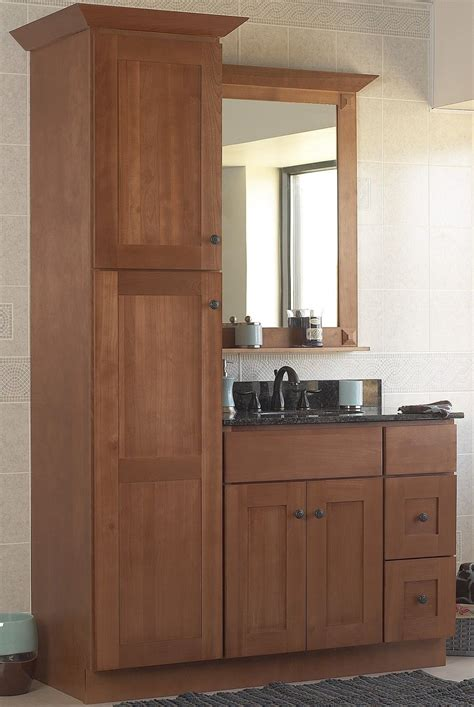 Bathroom Vanities With Linen Cabinet Sturbridge Bathroom Vanity Set Birch 36 Quot Base 2 Rh Drawers Linen Closet Mirror Ebay