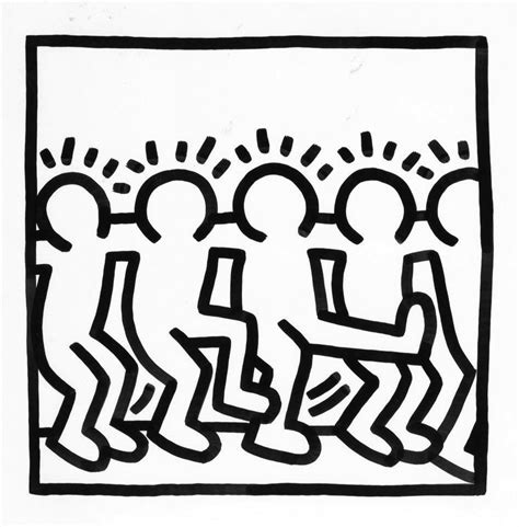 keith haring figure templates keith haring the 80 s