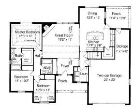 ranch style house floor plans ranch style homes floor plans house design ideas