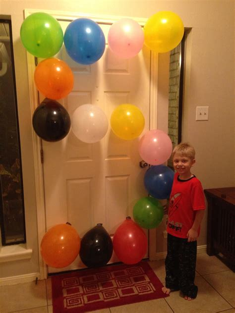 son turned  years    picture  balloons