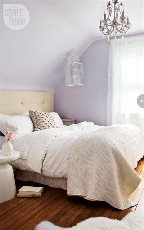 lavender bedroom walls diamond button tufted headboard design ideas