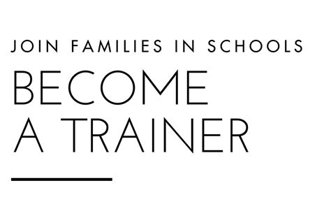 become a trainer become a trainer text families in school